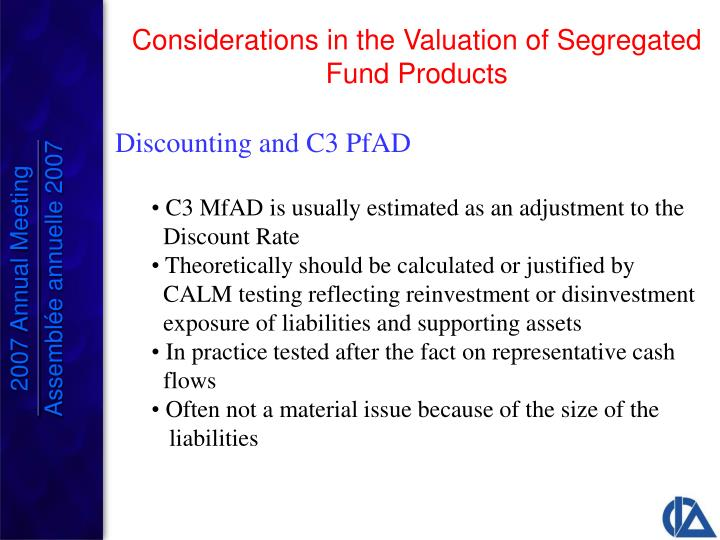 Discounting and C3 PfAD