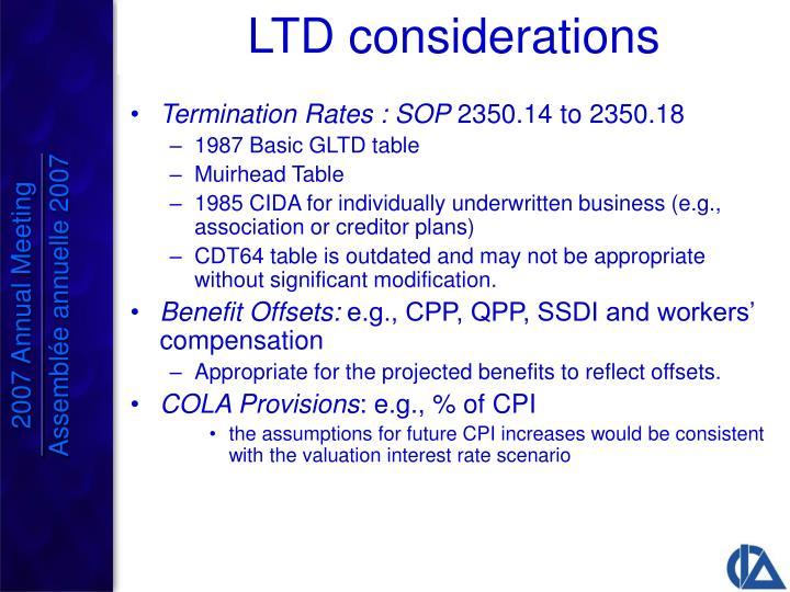 Termination Rates : SOP