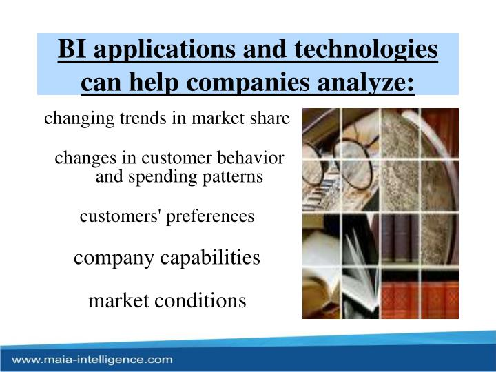 BI applications and technologies