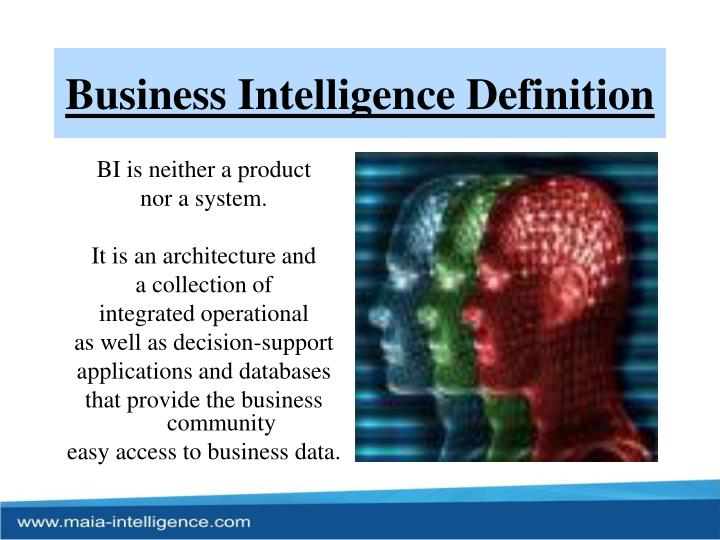 Business Intelligence Definition