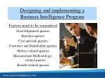 designing and implementing a business intelligence program