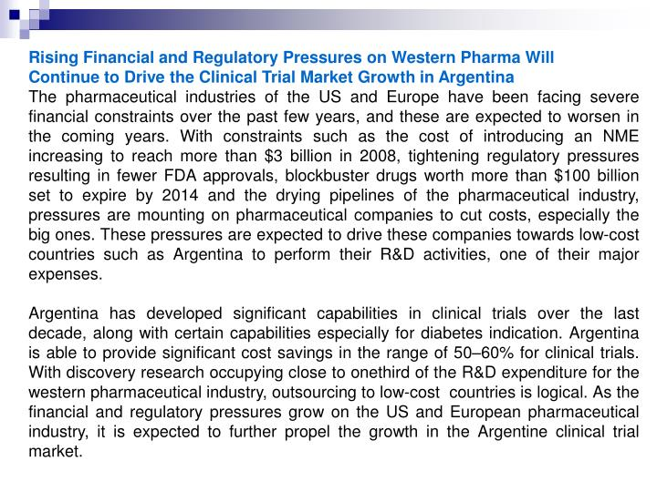 Rising Financial and Regulatory Pressures on Western Pharma Will