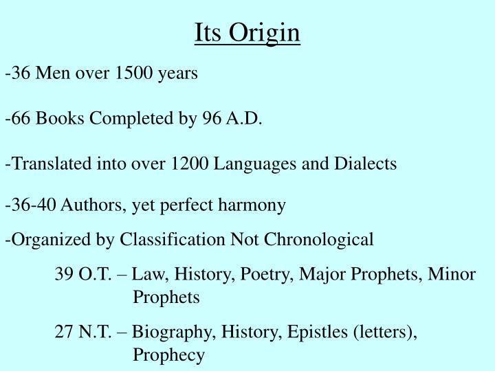Its Origin