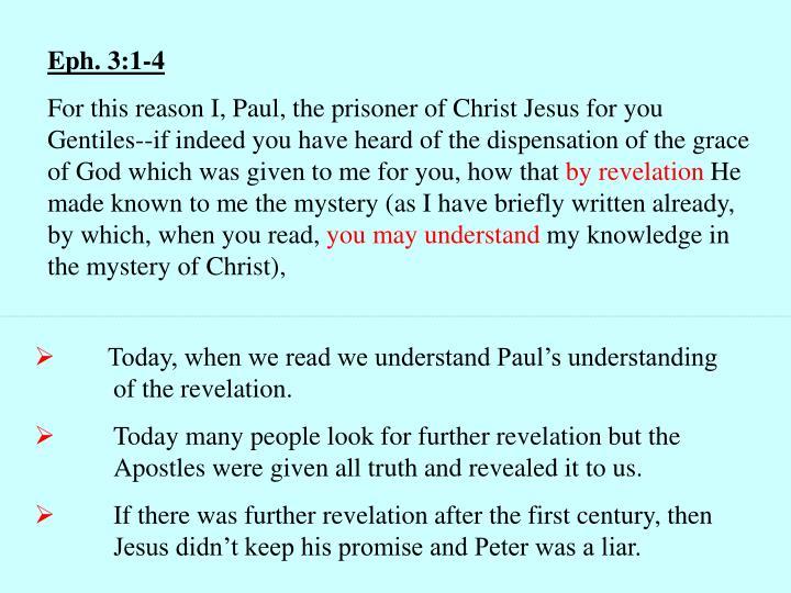 Eph. 3:1-4