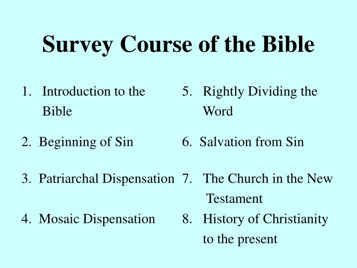 Survey Course of the Bible