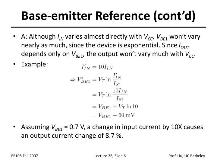 Base-emitter Reference (cont'd)