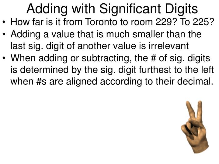 Adding with Significant Digits