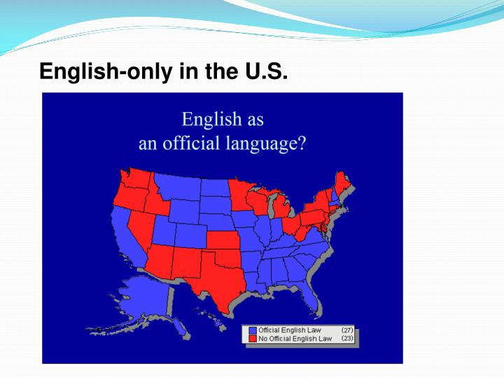 English-only in the U.S.