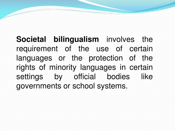 Societal bilingualism