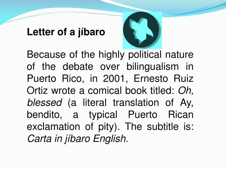 Letter of a jíbaro