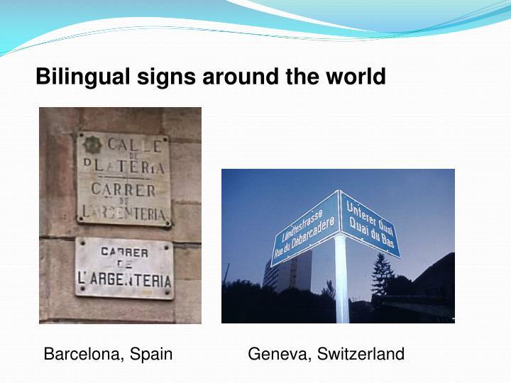 Bilingual signs around the world