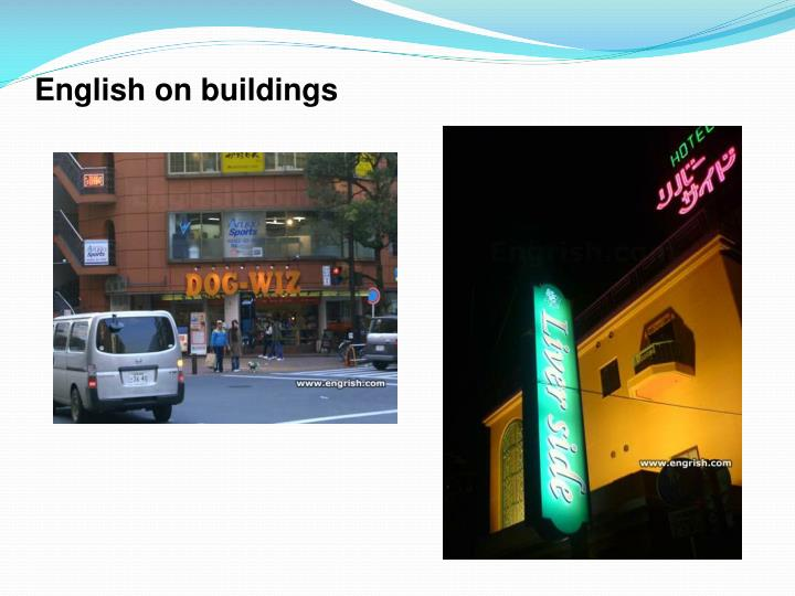 English on buildings
