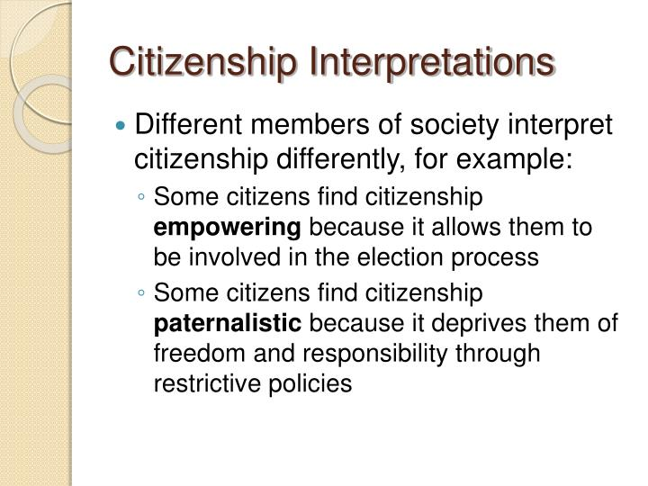 Citizenship interpretations