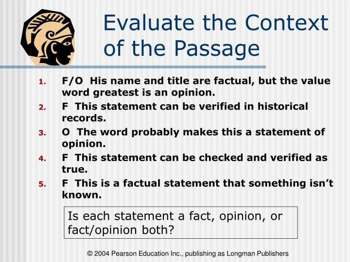 Evaluate the Context of the Passage