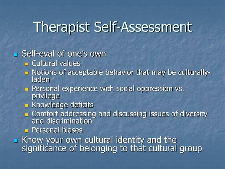 Therapist Self-Assessment