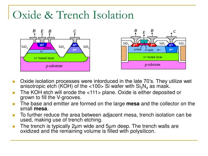 Oxide & Trench Isolation