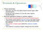 terminals operations