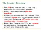 the junction transistor
