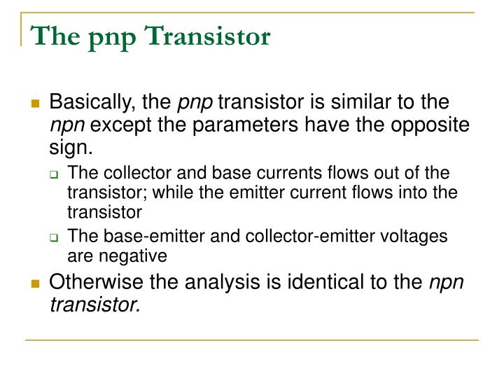 The pnp Transistor