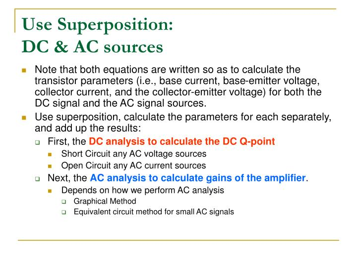 Use Superposition: