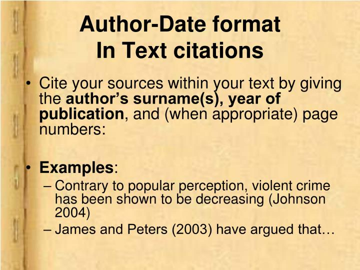 Author-Date format