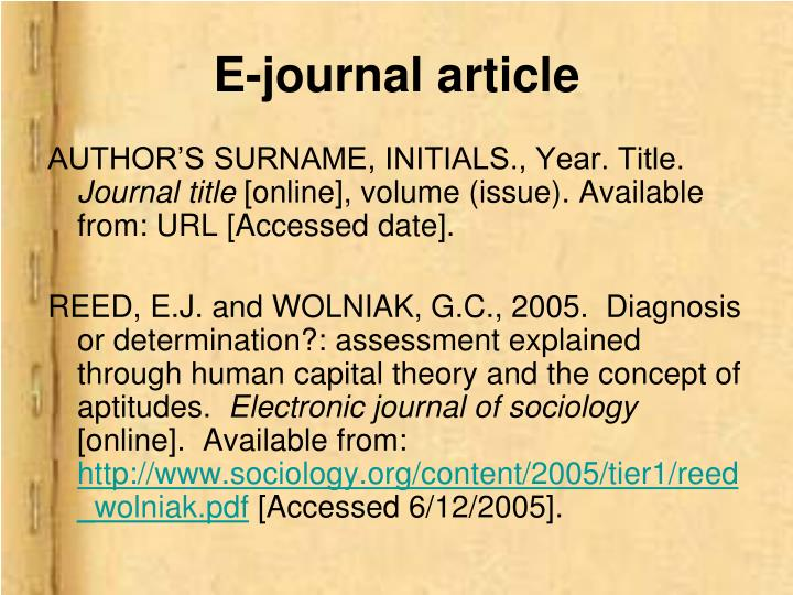 E-journal article