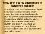 free open source alternatives to reference manager