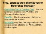 free open source alternatives to reference manager1