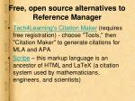 free open source alternatives to reference manager2