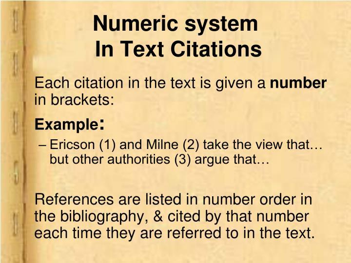 Numeric system