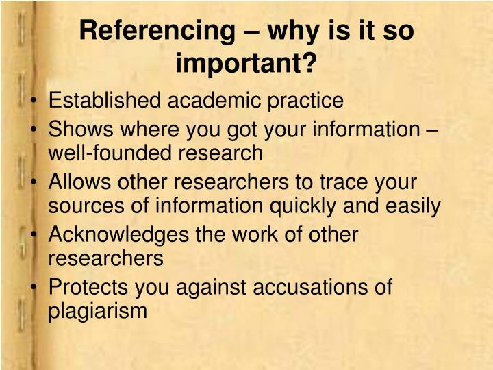 Referencing – why is it so important?