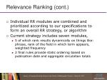 relevance ranking cont