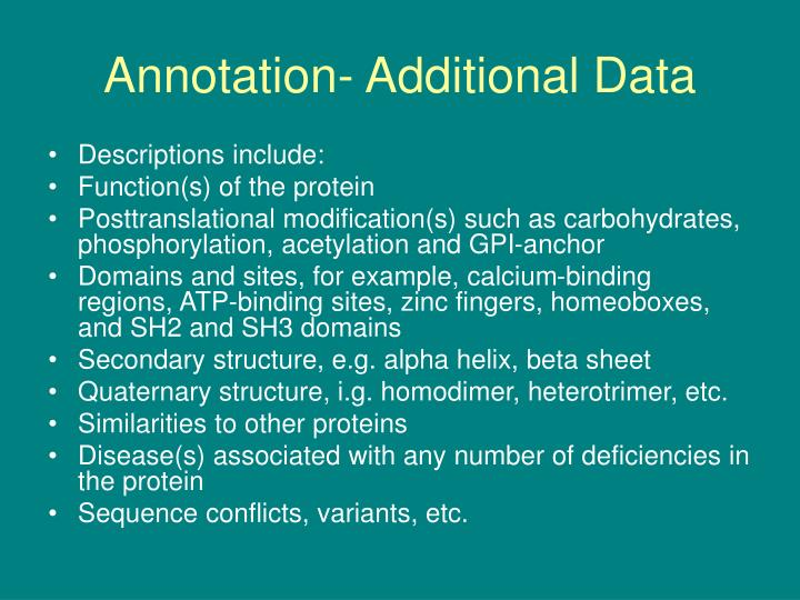 Annotation- Additional Data