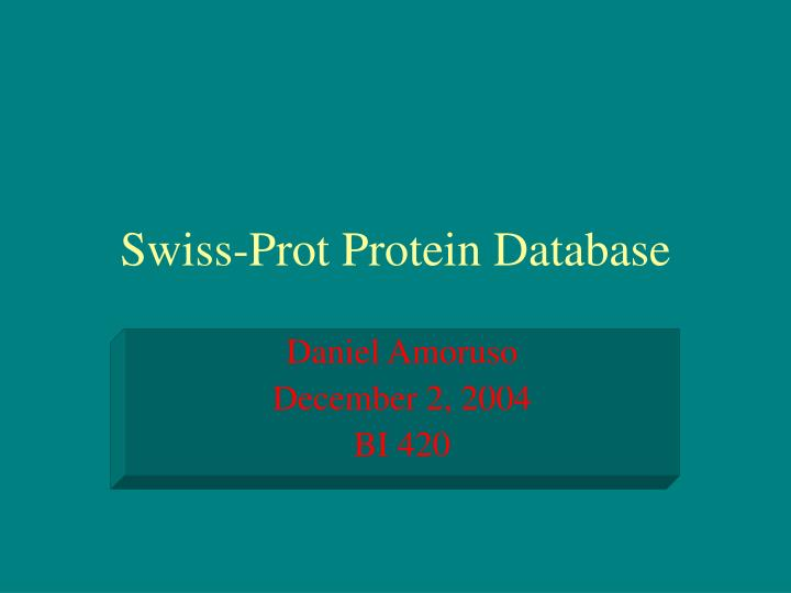 Swiss prot protein database