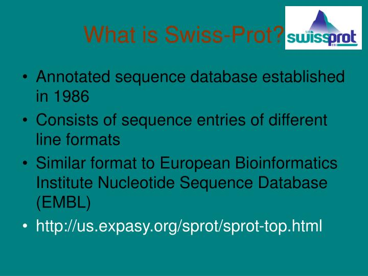 What is swiss prot