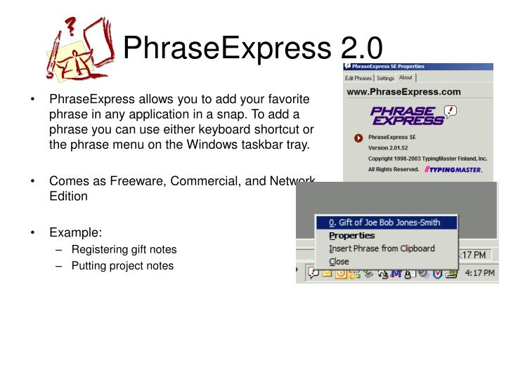 PhraseExpress 2.0