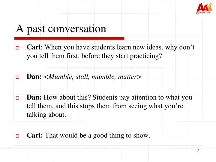 A past conversation