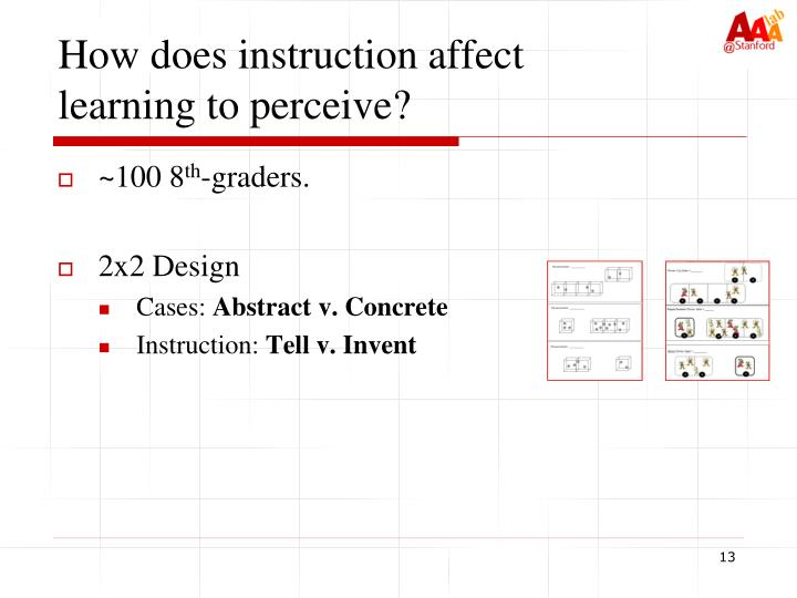 How does instruction affect