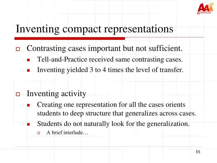 Inventing compact representations