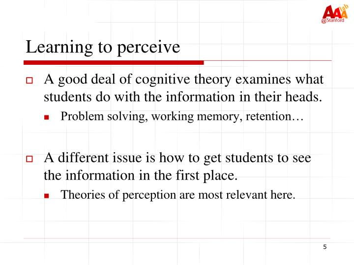 Learning to perceive