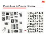 people learn to perceive structure