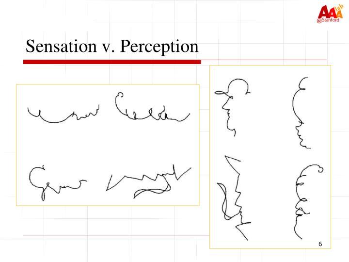 Sensation v. Perception