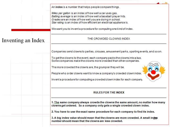Inventing an Index