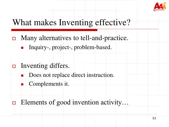 What makes Inventing effective?