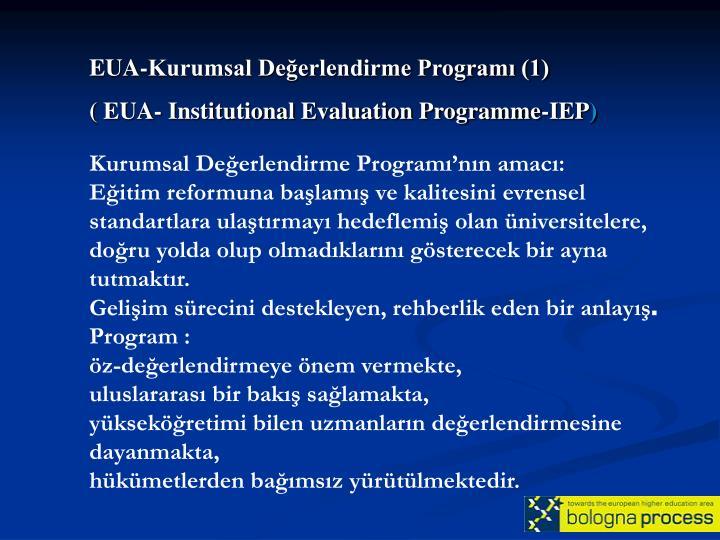 EUA-Kurumsal Değerlendirme Programı (1)