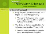 3 difficulty in the task