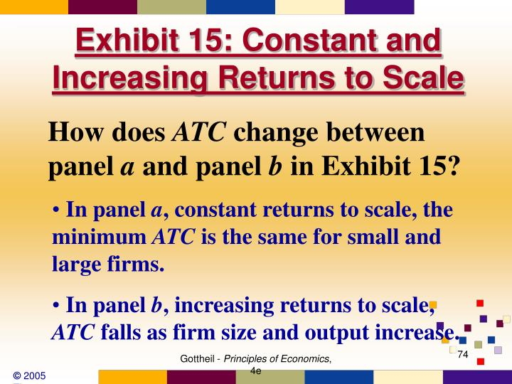 Exhibit 15: Constant and Increasing Returns to Scale