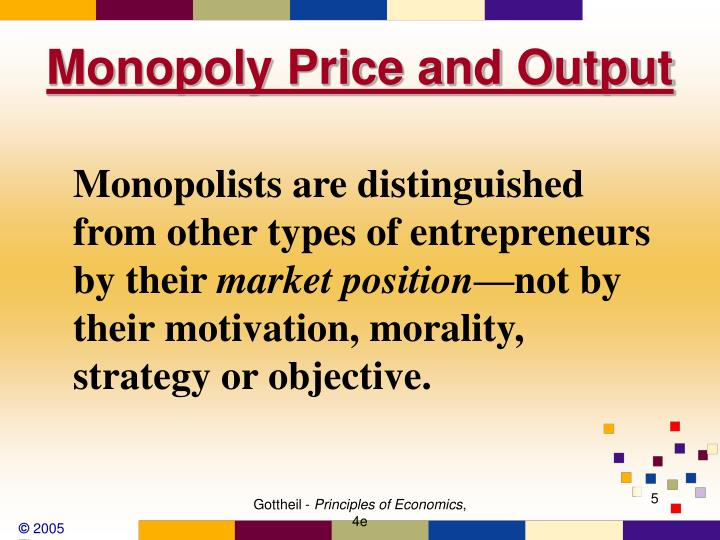 Monopoly Price and Output