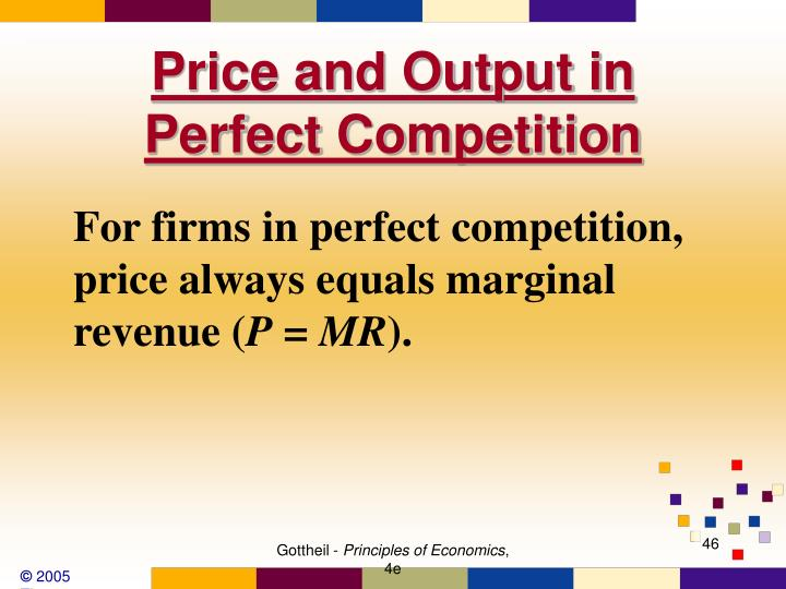 Price and Output in Perfect Competition