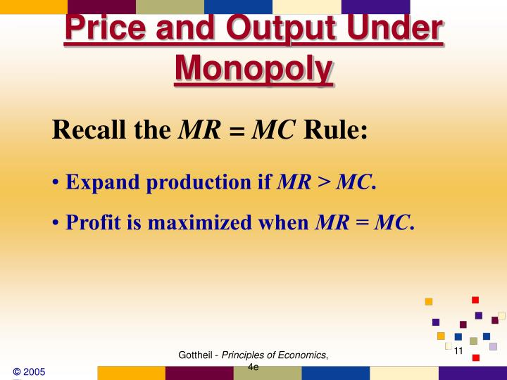 Price and Output Under Monopoly